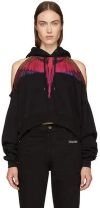 Marcelo Burlon County of Milan Black Cropped Color Wings Hoodie