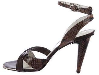 Robert Clergerie Clergerie Paris Snakeskin Slingback Sandals
