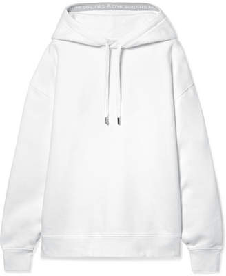 Acne Studios Yala Oversized Intarsia-trimmed Cotton-jersey Hoodie - White