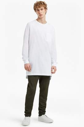 French Connenction Peached Longline Jersey Sweatshirt