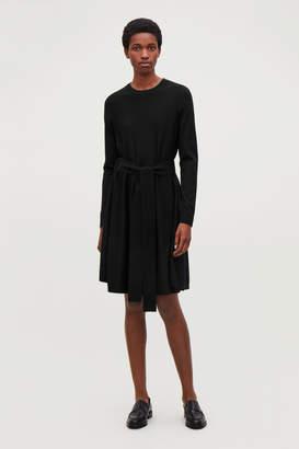 Cos A-LINE MERINO-WOOL KNIT DRESS