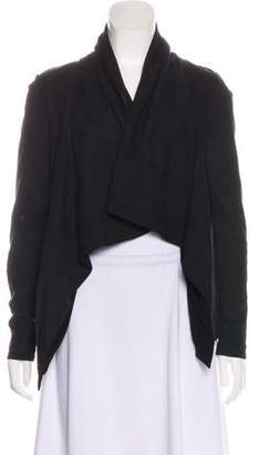 DKNY Long Sleeve Open Front Jacket