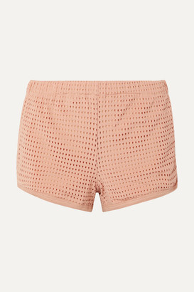 Olympia Activewear - Neo Stretch-mesh Shorts - Blush