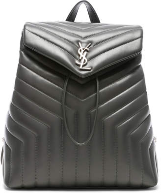 ... Saint Laurent Medium Supple Monogramme Loulou Backpack 08a829135fa21