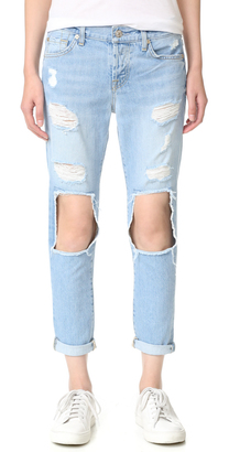 7 For All Mankind Josefina Boyfriend Jeans $219 thestylecure.com