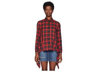 Neil Barrett Fall Away Back Tartan Shirt