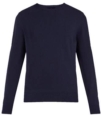 Allude Crew Neck Cashmere Sweater - Mens - Navy