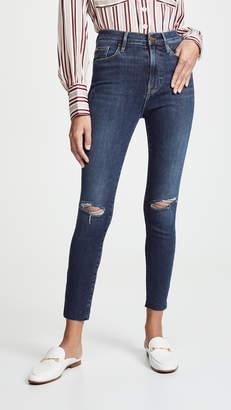 Frame Ali High Rise Skinny Cigarette Raw Jeans