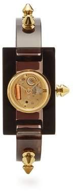 Gucci - Stud Trimmed Plexiglas Watch - Womens - Black