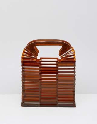 Asos Design DESIGN square plastic boxy clutch bag