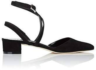 Manolo Blahnik Women's Suede Slingback Ankle-Strap Pumps