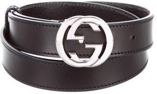 Gucci Interlocking GG Leather Belt $175 thestylecure.com
