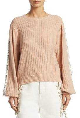 See by Chloe Lace-Trim Wool Blend Pullover