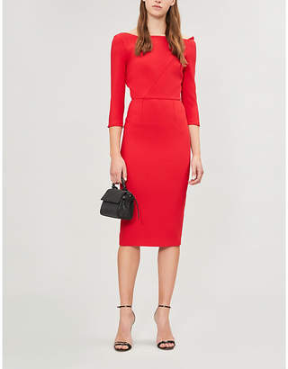 Roland Mouret Witham off-the-shoulder crepe dress