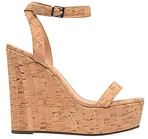 Schutz Women's Eduarda Suede Cork Wedges