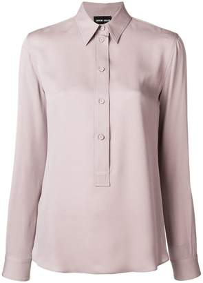 Giorgio Armani long-sleeve fitted shirt