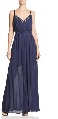 AQUA Crochet Trim Maxi Dress - 100% Exclusive $98 thestylecure.com
