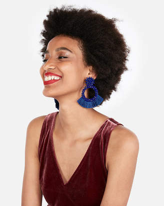 Express Wrapped Tassel Earrings