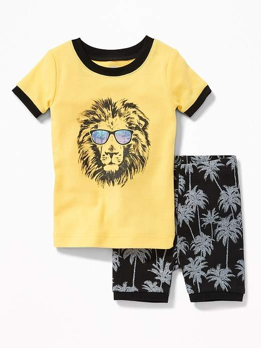 Lion-Graphic Sleep Set for Toddler & Baby