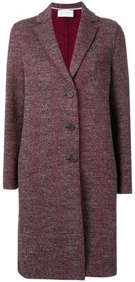 Harris Wharf London single-breasted midi coat