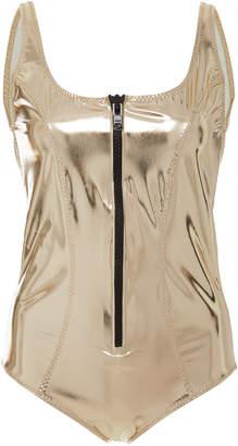 Lisa Marie Fernandez Jasmine Metallic One-Piece Swimsuit Size: 0