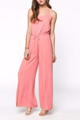 Everly Pink Sleeveless Jumpsuit $59 thestylecure.com
