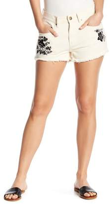 Billabong Drift Away Embroidered Denim Shorts