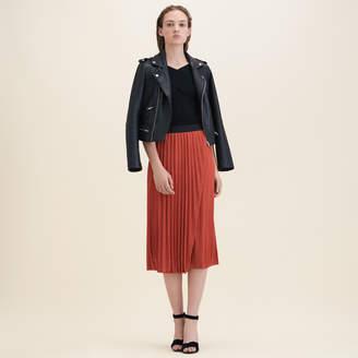 Maje Lurex knit pleated skirt
