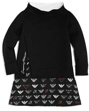 Armani Junior Girls' Layered Sweatshirt & Logo-Print Terry Dress - Big Kid