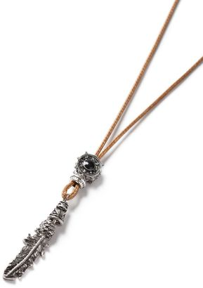 Brown Cord and Silver Look Anchor Adjustor Necklace*