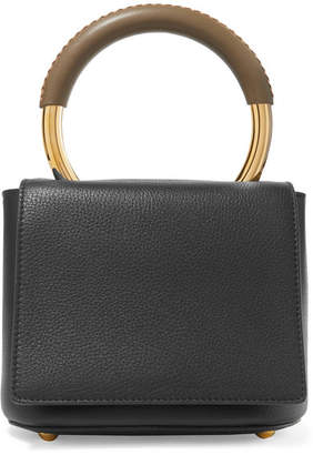 f615b6df9697 Marni Pannier Textured-leather Tote - Black