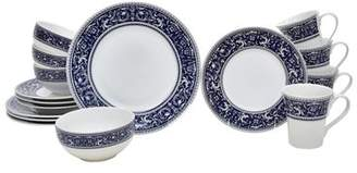 222 Fifth Francesco 16 Piece Dinnerware Set, Service for 4