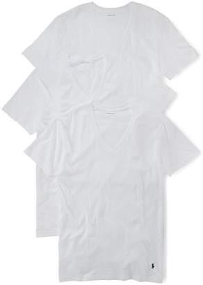 Polo Ralph Lauren 3-Pack Classic Cotton V-Neck T-Shirts
