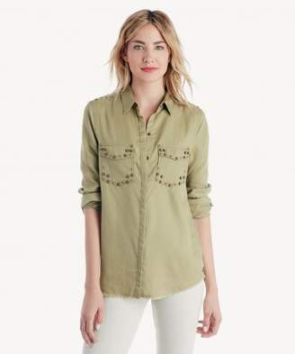 Sole Society Tencel Stud Detail Shirt