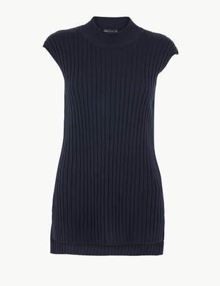 Marks and Spencer Ribbed Sleeveless Tunic