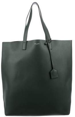 Saint Laurent Leather N/S Shopping Tote