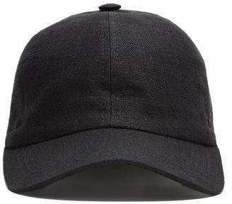 Co Lock and Hatters Lock and Rimini Baseball Cap In Black Linen