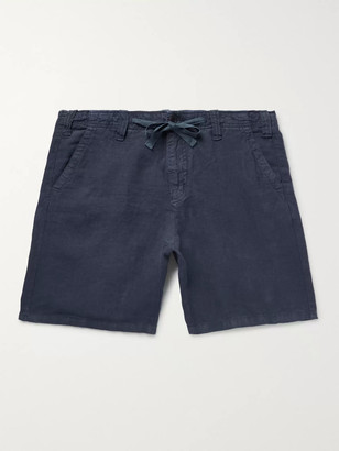 Hartford Slim-Fit Linen-Chambray Drawstring Shorts