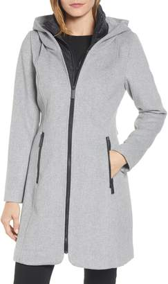 Kenneth Cole New York Hooded Twill Coat