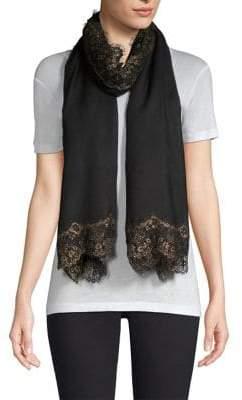 Bindya Evening Lace Cashmere& Silk Shawl