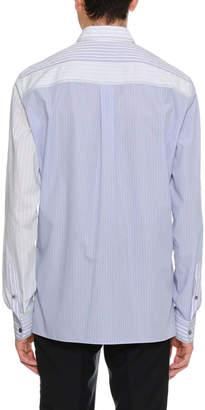 Lanvin Striped Pocket Sport Shirt