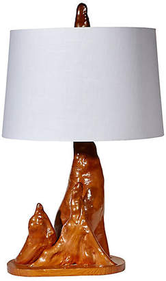 One Kings Lane Vintage 1950s Driftwood-Style Table Lamp