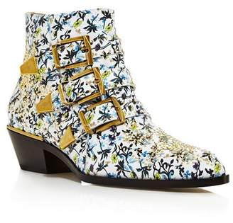 Chloé Women's Susan Pointed Toe Studded Leather Booties
