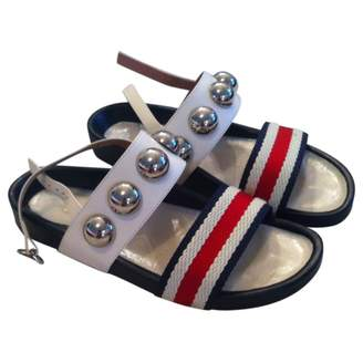 RED Valentino Blue Leather Sandals