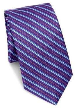 Saks Fifth Avenue COLLECTION Silk Multi- Stripe Tie