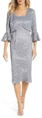 Alex Evenings Lace Sheath Dress & Bolero