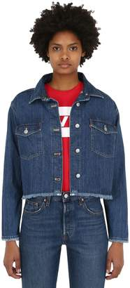 Levi's Rania Boxy Cropped Cotton Denim Shirt