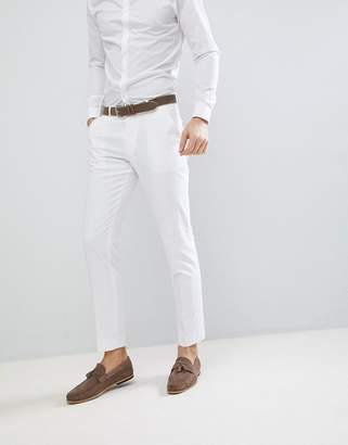 Asos Design DESIGN skinny suit pants in white