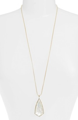 Women's Kendra Scott 'Carole' Long Semiprecious Stone Pendant Necklace $90 thestylecure.com