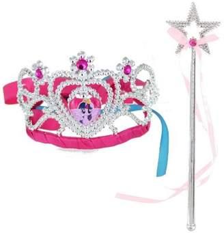 My Little Pony Girls Mlp Twilight Sparkle Tiara Wand Set Fancy Dress Accessory One size